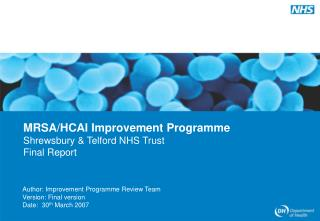 Author: Improvement Programme Review Team Version: Final version Date:  30 th  March 2007