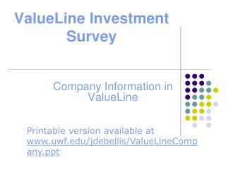 ValueLine Investment Survey