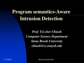 Program semantics-Aware Intrusion Detection
