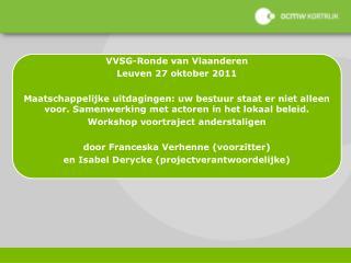 VVSG-Ronde van Vlaanderen Leuven 27 oktober 2011