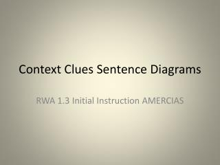 Context Clues Sentence Diagrams