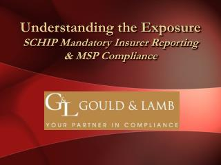 Understanding the Exposure  SCHIP Mandatory Insurer Reporting   & MSP Compliance