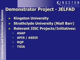 Demonstrator Project - JELFAD