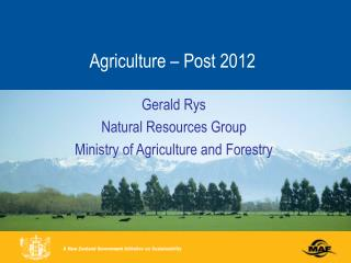 Agriculture – Post 2012