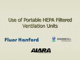 Use of Portable HEPA Filtered Ventilation Units