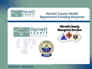 Harnett County Health Department Flooding Response