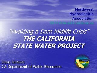 Dave Samson CA Department of Water Resources