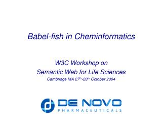 Babel-fish in Cheminformatics