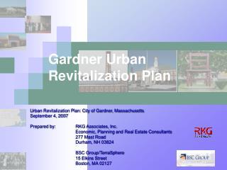 Gardner Urban Revitalization Plan