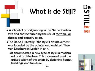 What is de Stijl?