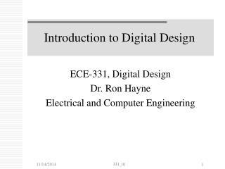 Introduction to Digital Design