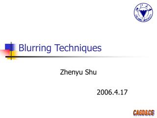 Blurring Techniques