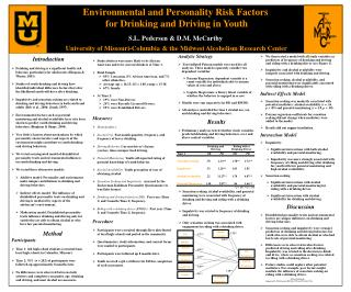 Environmental and Personality Risk Factors  for Drinking and Driving in Youth