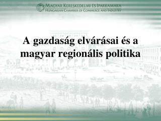 A gazdaság elvárásai és a magyar regionális politika