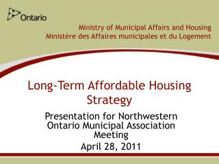Long-Term Affordable Housing Strategy