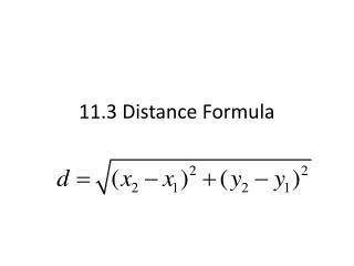 11.3 Distance Formula