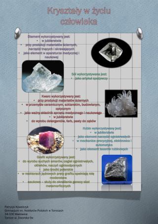 Kryształy w życiu człowieka