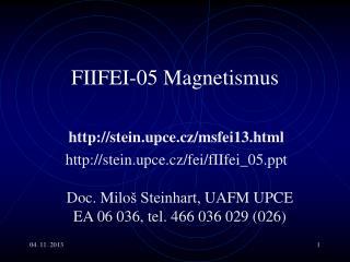 F II F EI -05 Magnetismus