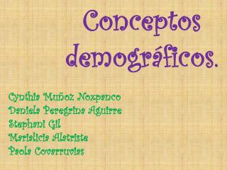 Conceptos demográficos.