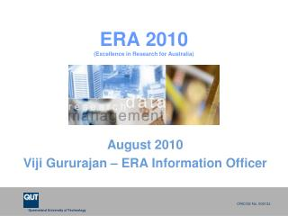 ERA 2010 (Excellence in Research for Australia)