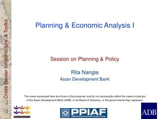 Planning & Economic Analysis I