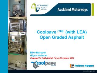 Coolpave  (TM)   (with LEA) Open Graded Asphalt