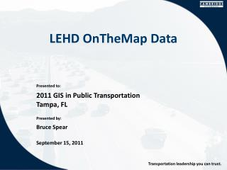 LEHD  OnTheMap  Data