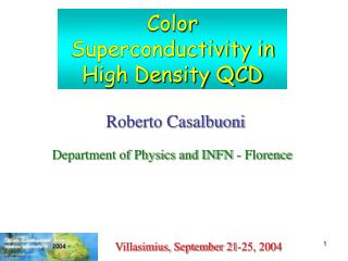 Color Superconductivity in High Density QCD