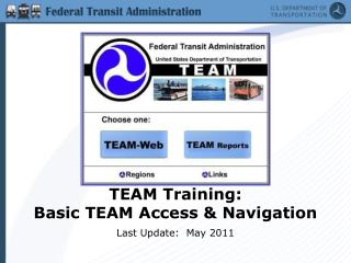 TEAM Training:   Basic TEAM Access & Navigation