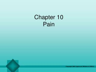 Chapter 10 Pain