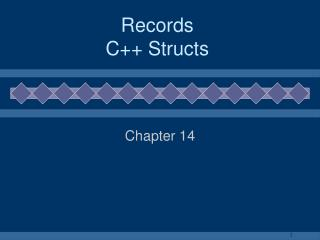 Records C++ Structs