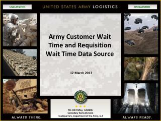 Army Customer Wait Time and Requisition Wait Time Data Source