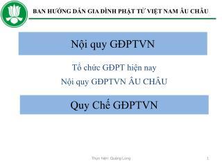 N?i quy G?PTVN  �U CH�U