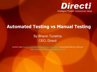 Automated Testing vs Manual Testing