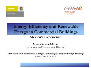Energy Efficiency and Renewable Energy in Commercial Buildings