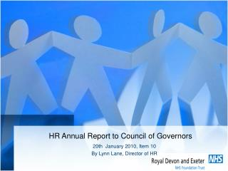 HR Annual Report to Council of Governors