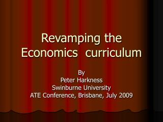 Revamping the Economics  curriculum