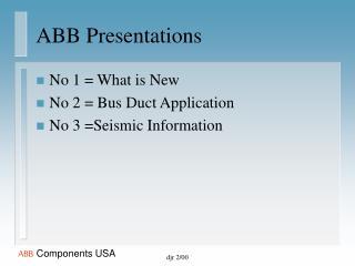 ABB Presentations