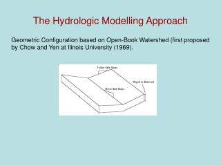 The Hydrologic Modelling Approach