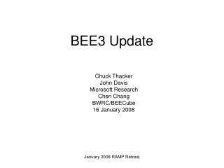 BEE3 Update