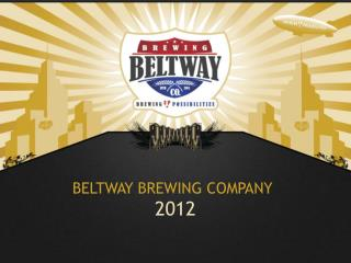 Beltway Brewing Company Business Plan