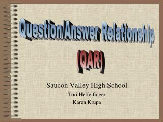 Saucon Valley High School Tori Heffelfinger Karen Krupa