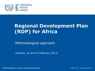 Regional Development  Plan (RDP) for  Africa