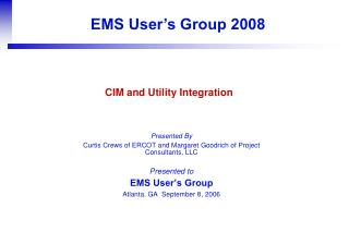 CIM and Utility Integration