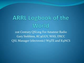 ARRL Logbook of the World