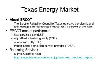Texas Energy Market