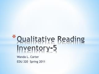 Qualitative Reading Inventory-5