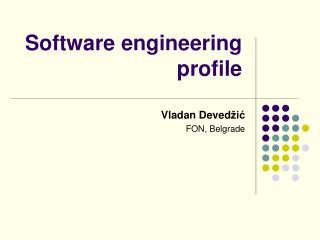Software engineering profile