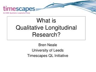 What is  Qualitative Longitudinal Research?