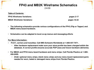 FP43 and MB2K Wireframe Schematics 2/4/09